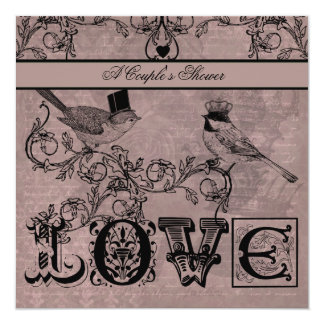 Wedding Love Birds Couple's Shower Invitation