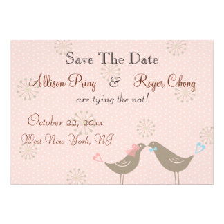 Wedding Love Birds P Save The Date  Announcement
