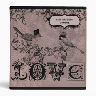 Wedding Love Birds  Photo Binder