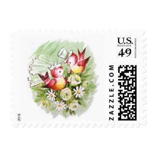 Wedding Love Birds Stamp