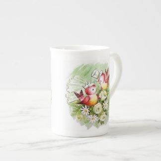 Wedding Love Birds Tea Cup
