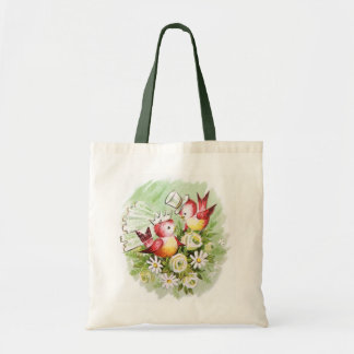 Wedding Love Birds Tote Bag