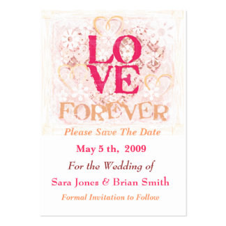 Wedding Love Bride & Groom Save The Date Card