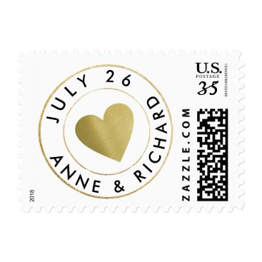 mixedworld wedding love circle_stamp monogram postage