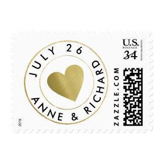wedding love circle_stamp monogram postage