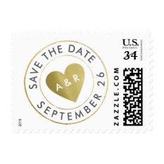 Wedding Love Circle_stamp Save The Date Postage at Zazzle