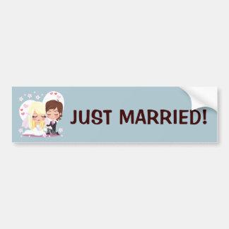 Wedding Love Flower Bumper Sticker