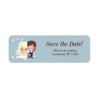 Wedding Love Flower Return Address Labels