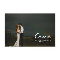 Wedding Love Full Photo Portrait Personalize Canvas Print