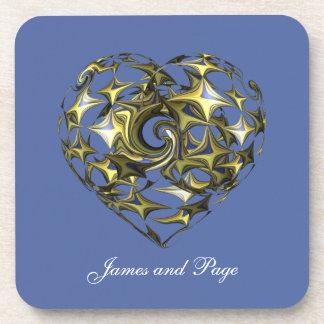 Wedding Love Heart Coaster Coaster