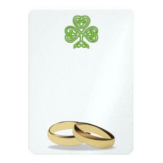 Wedding Love Irish Rings Shower Party Bride Groom Card