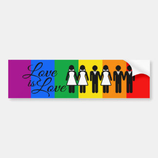 WEDDING LOVE IS LOVE 2 - png Bumper Stickers