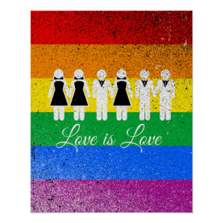 WEDDING LOVE IS LOVE POSTER