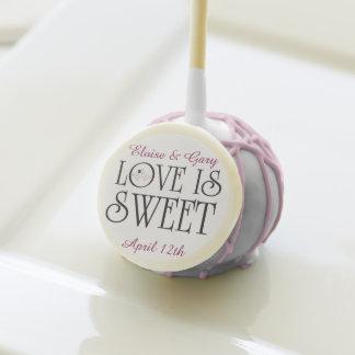 Wedding Love Is Sweet Custom Cake pops