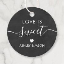 Wedding Love is Sweet Gift Tag, Chalkboard Favor Tags