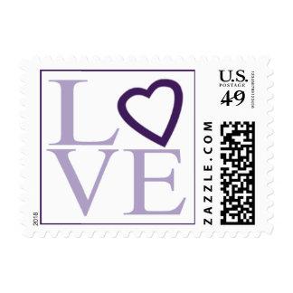 Wedding  Love Lavender Plum RSVP Save Date Invite Postage