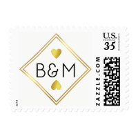 wedding love monogram square postage