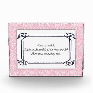 Wedding Love Quote Acrylic Block Award