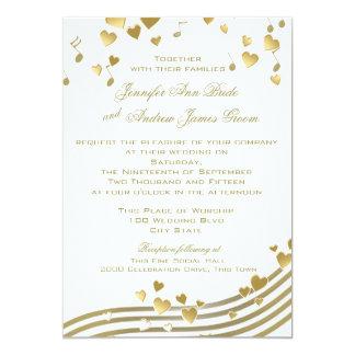 Wedding Love Song 5x7 Paper Invitation Card