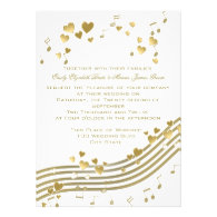 Wedding Love Song Personalized Invites