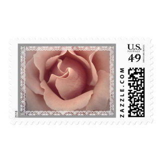 Wedding LOVE Stamp BLUSH PINK Rose and Lace