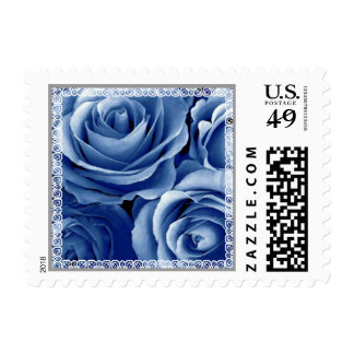 Wedding LOVE Stamp TRUE BLUE Roses & Lace
