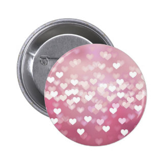 Wedding Love Vector Background shiny pink hearts Pinback Button