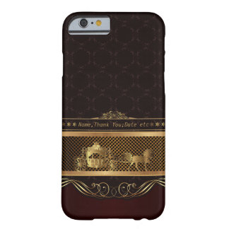 Wedding Luxury Golden Barely There iPhone 6 Case