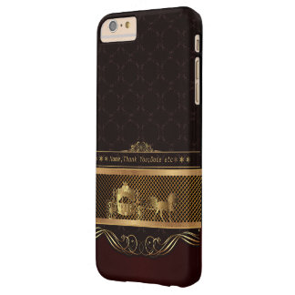 Wedding Luxury Golden Barely There iPhone 6 Plus Case