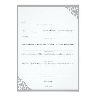Wedding MadLibs Grey Vine Personalized Invitations
