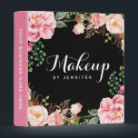 """Wedding Makeup Beauty Salon Romantic Floral Binder<br><div class=""""desc"""">================= ABOUT THIS DESIGN ================= Wedding Makeup Beauty Salon Romantic Floral Binder. (1) All text style, colors, sizes can also be modified to fit your needs. (2) If you need any customization or matching items, please contact me. (3) You can find matching products (e.g. Business Card, Appointment Card, Flyer, Rack...</div>"""