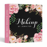 Wedding Makeup Beauty Salon Romantic Floral Binder<br><div class='desc'>================= ABOUT THIS DESIGN ================= Wedding Makeup Beauty Salon Romantic Floral Binder. (1) All text style, colors, sizes can also be modified to fit your needs. (2) If you need any customization or matching items, please contact me. (3) You can find matching products (e.g. Business Card, Appointment Card, Flyer, Rack...</div>