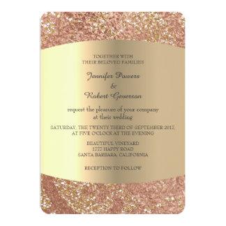 Wedding Marble Minimalism Gold Blush Lace Card