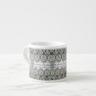Wedding March Music with Lace Trim 6 Oz Ceramic Espresso Cup