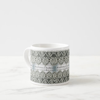 Wedding March Music with Lace Trim Espresso Cup