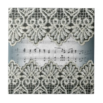 Wedding March with Lace Ceramic Tile