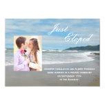 "Wedding Marriage Elopement Announcement Invitation 5"" X 7"" Invitation Card"