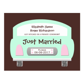 Wedding Marriage Elopement Announcement Postcard