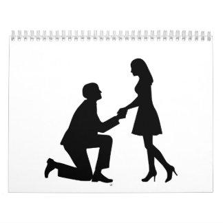 Wedding Marriage Proposal Calendar