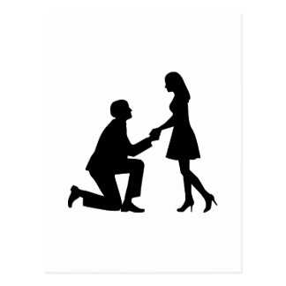 Wedding Marriage Proposal Postcard
