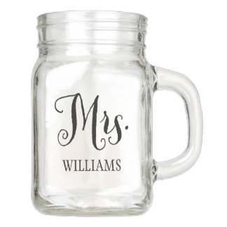 Wedding Mason Jar   Mrs. Bride