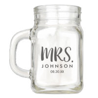 Wedding Mason Jar (Mrs.)   Weddings