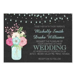 Wedding - Mason Jar/Pastel/Lights Card