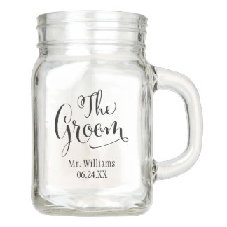 Wedding Mason Jar | The Groom