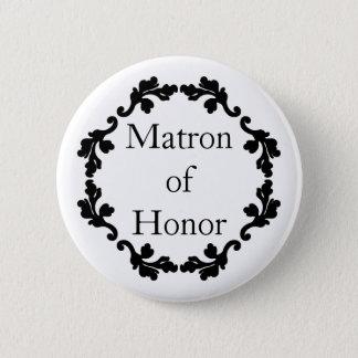 Wedding matron of honor pinback button