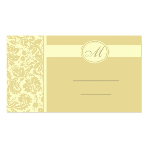 Wedding Meal Place Setting Cards, Color Select Business Cards