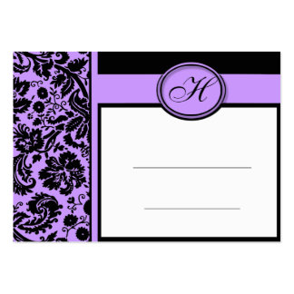 Wedding Meal Place Setting Cards, Lilac Damask Large Business Cards (Pack Of 100)