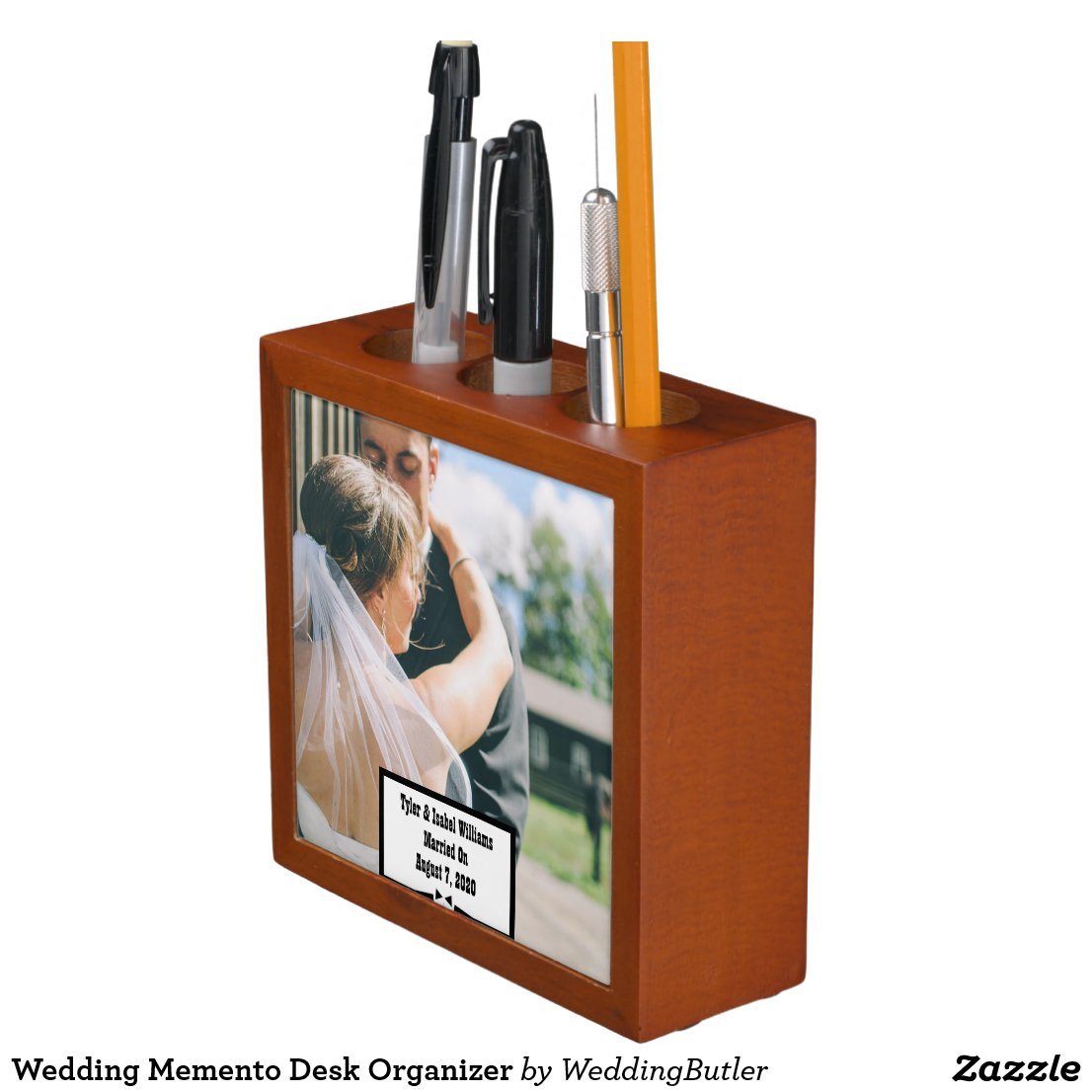Wedding Memento Desk Organizer