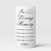 Wedding Memorial Candle | Black Classic Elegance