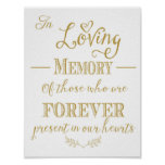 memory, loving, memorial, table, wedding, sign,